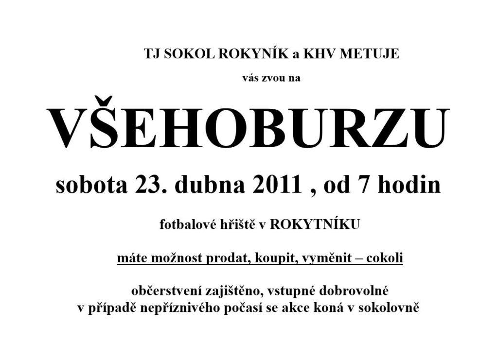 Všehoburza 2011