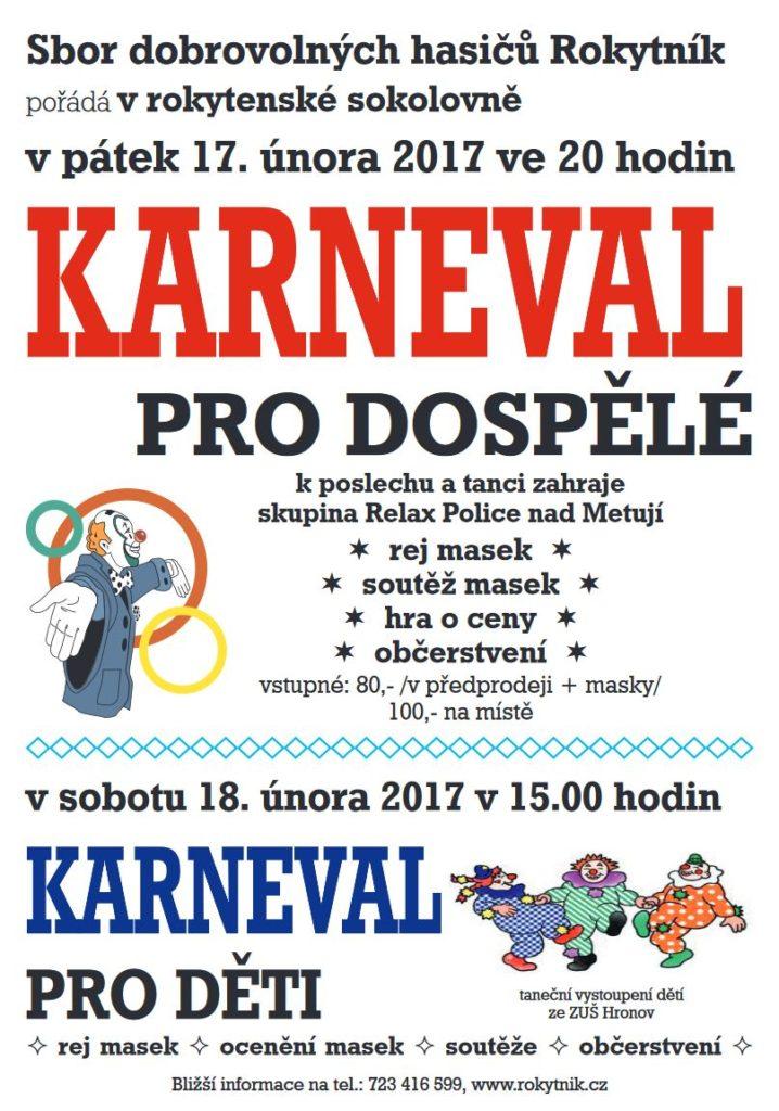 Karneval pro dospělé a pro děti